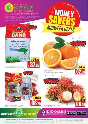 Kenz Kenz Hypermarket Money Savers Midweek Offers