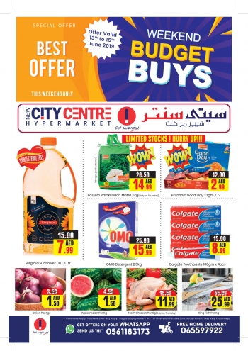 City Centre Supermarket City Centre Weekend Budget Buys Offers
