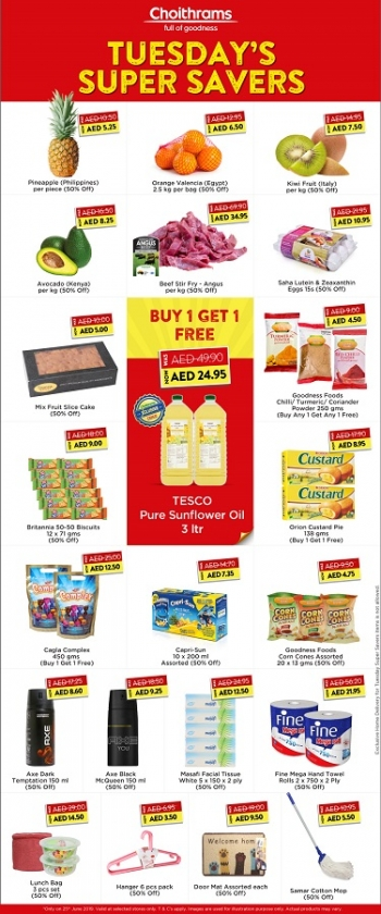 Choithrams Choithrams Tuesday Super Savers Offers 25 June 2019