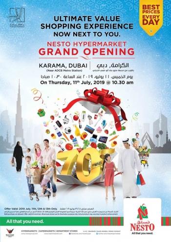 Nesto Nesto Hypermarket Grand Opening Offers