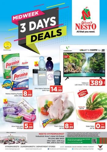 Nesto Hypermarket Midweek 3 Days Deals