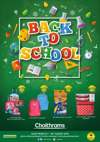 Choithrams Choithrams Back to School Offers