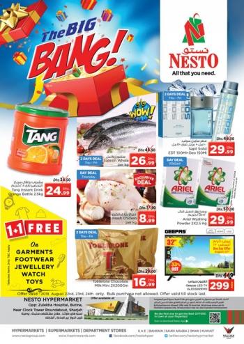Nesto Nesto Hypermarket Big Bang Deals in Butina, Sharjah