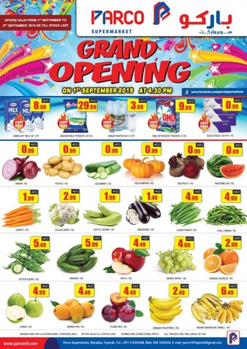 PARCO Hypermarket Parco Supermarket Grand Opening Offers