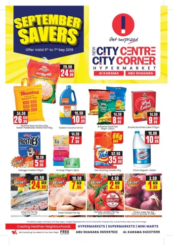 City Centre Supermarket New City Centre Hypermarket September Savings