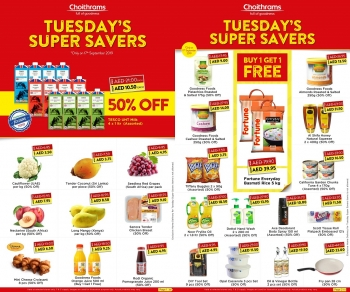 Choithrams Choithrams Tuesday Super Savers Offers 17 September