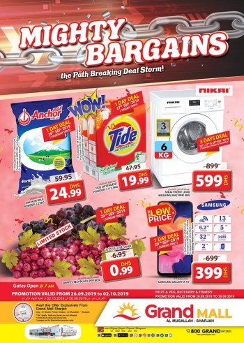 Grand Hypermarket Grand Mall Mighty Bargains Offers