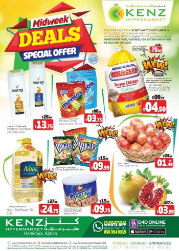 Kenz Kenz Midweek Special Offers