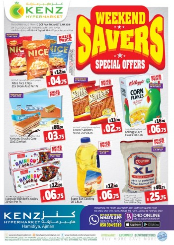 Kenz Kenz Hypermarket Weekend Special Offers