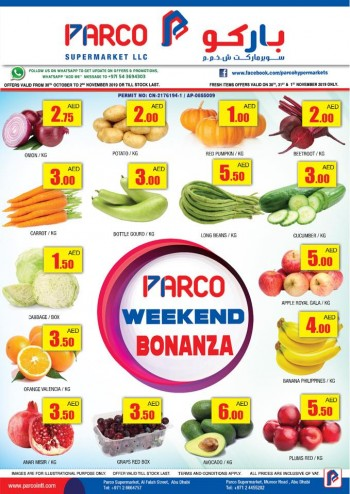 PARCO Hypermarket Parco Supermarket Weekend Special Offers