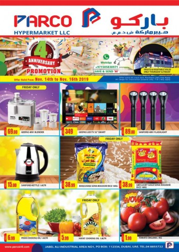 PARCO Hypermarket Parco Hypermarket Anniversary Offers