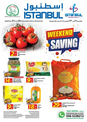 Istanbul Supermarket Istanbul Supermarket Weekend Saving Offers