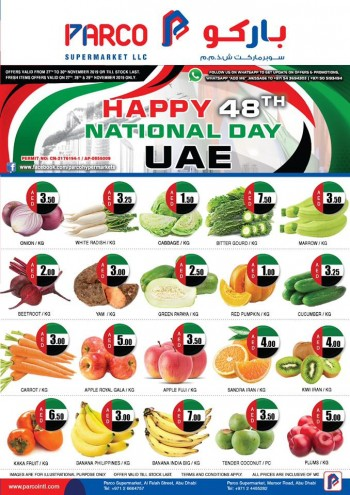 PARCO Hypermarket Parco Supermarket National Day Offers