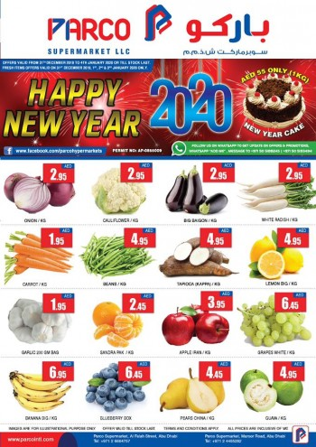 PARCO Hypermarket Parco Supermarkets Abu Dhabi New Year Offers