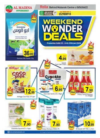 Al Madina Hypermarket Al Madina Rolla Weekend Wonder Deals