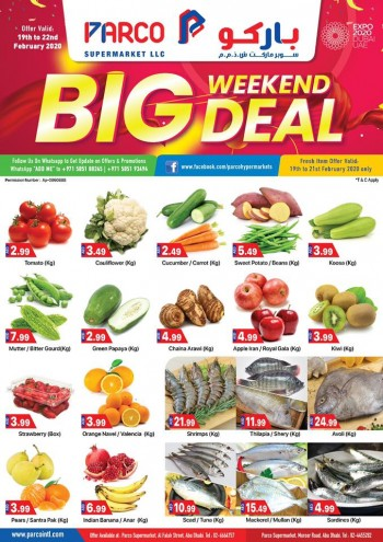 PARCO Hypermarket Parco Supermarkets Abu Dhabi Big Weekend Deals