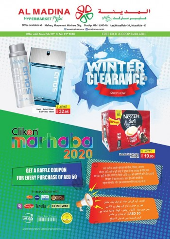Al Madina Hypermarket Al Madina Hypermarket Winter Clearance Offers