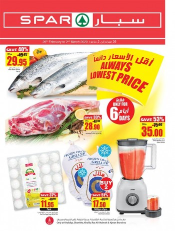 SPAR Spar 6 Days Only Offers