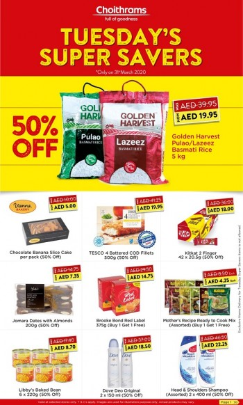 Choithrams Choithrams Supermarket Tuesday Super Savers Offers