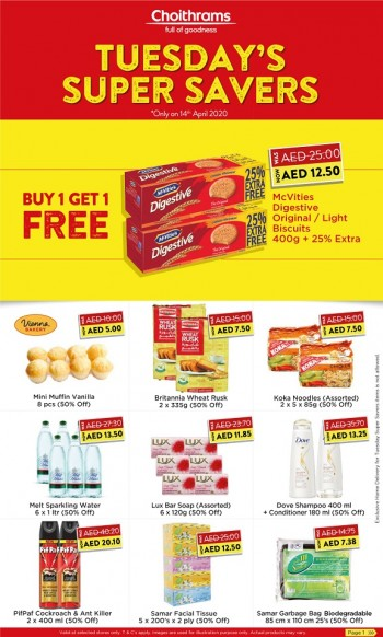 Choithrams Choithrams Super Savers Offers 14 April 2020
